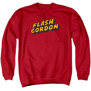 Flash Gordon/Logo Adult Crew Sweat in Red