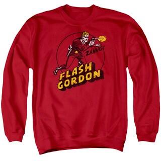 Flash Gordon/Zang Adult Crew Sweat in Red