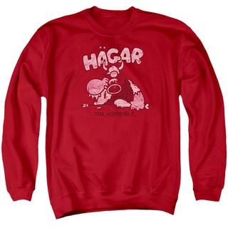 Hagar The Horrible/Hagar Gulp Adult Crew Sweat in Red