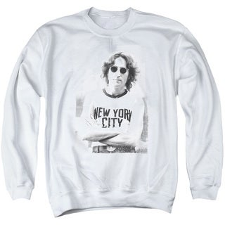 John Lennon/New York Adult Crew Sweat in White