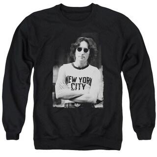 John Lennon/New York Adult Crew Sweat in Black