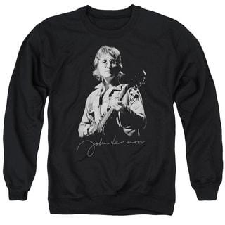 John Lennon/Iconic Adult Crew Sweat in Black