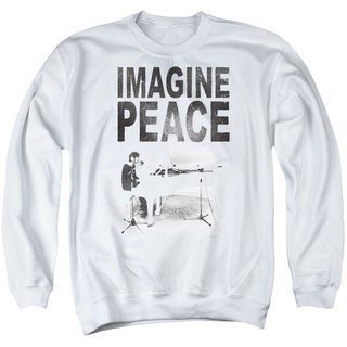 John Lennon/Imagine Adult Crew Sweat in White