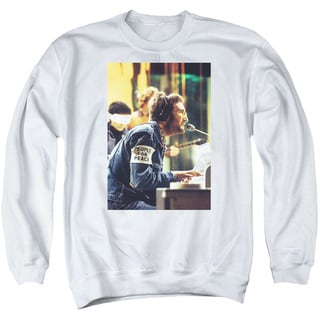 John Lennon/Peace Adult Crew Sweat in White