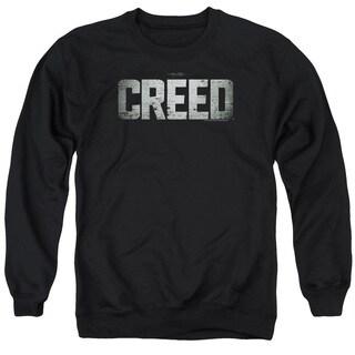 Creed/Logo Adult Crew Sweat in Black