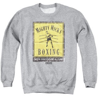 Creed/Micks Poster Adult Crew Sweat in Athletic Heather