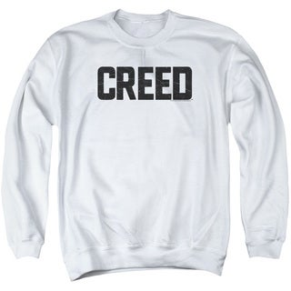 Creed/Cracked Logo Adult Crew Sweat in White