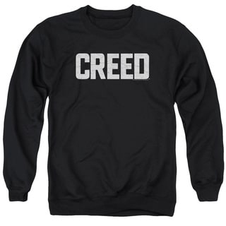 Creed/Cracked Logo Adult Crew Sweat in Black