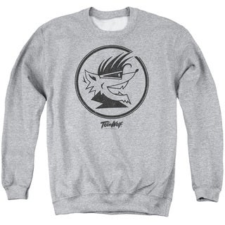 Teen Wolf/Wolf Head Adult Crew Sweat in Athletic Heather