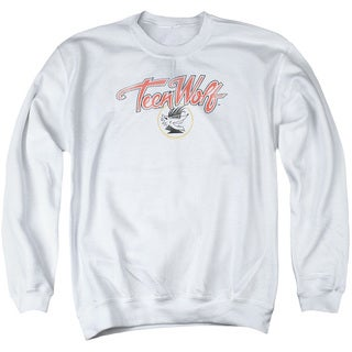 Teen Wolf/Poster Logo Adult Crew Sweat in White