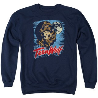 Teen Wolf/Moon Wolf Adult Crew Sweat in Navy