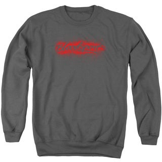Bloodsport/Blood Splatter Adult Crew Sweat in Charcoal
