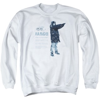 Fargo/This Is A True Story Adult Crew Sweat in White