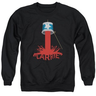 Carrie/Bucket Of Blood Adult Crew Sweat in Black