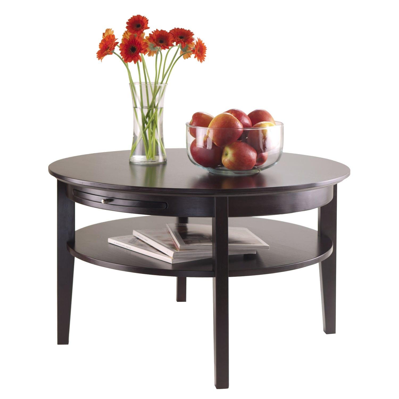 - Shop Winsome Amelia Espresso Wood Round Storage Coffee Table With