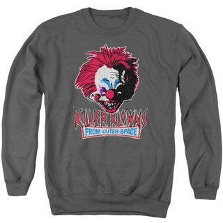 Killer Klowns From Outer Space/Rough Clown Adult Crew Sweat in Charcoal
