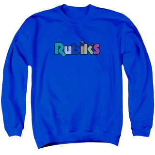 Rubik's Cube/Smudge Logo Adult Crew Sweat in Royal