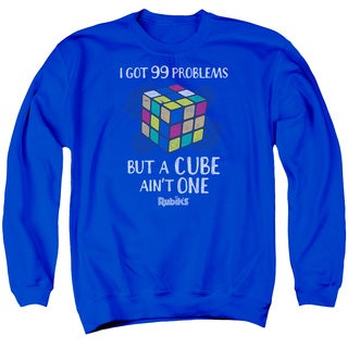 Rubik's Cube/99 Problems Adult Crew Sweat in Royal