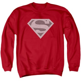 Superman/Elephant Shield Adult Crew Sweat in Red