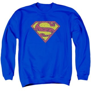 Superman/Rosey Shield Adult Crew Sweat in Royal