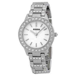 Fossil Glitz Silvertone Crystal/Stainless Steel Women's Watch