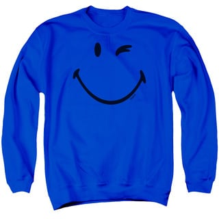 Smiley World/Big Wink Adult Crew Sweat in Royal