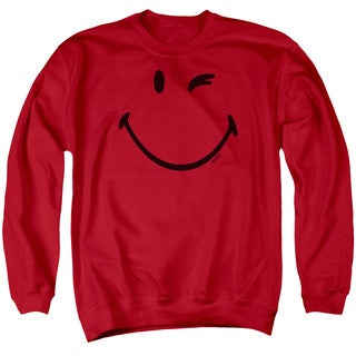 Smiley World/Big Wink Adult Crew Sweat in Red