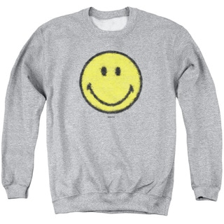 Smiley World/Paper Jam Adult Crew Sweat in Athletic Heather
