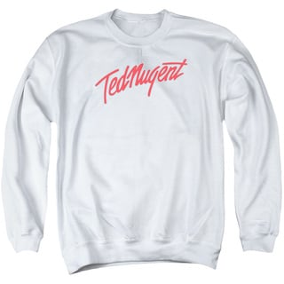 Ted Nugent/Clean Logo Adult Crew Sweat in White