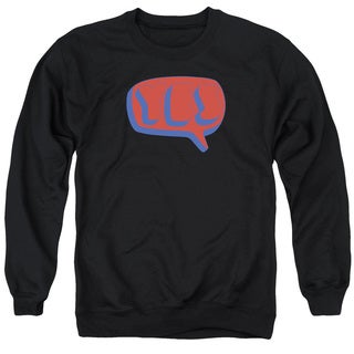 Yes/Word Bubble Adult Crew Sweat in Black
