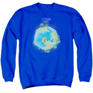 Yes/Fragile Cover Adult Crew Sweat in Royal