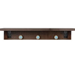 Hobbitholeco. Brown 6-inch x 30-inch Shelf