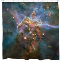 Sharp Shirter Mystic Mountain Shower Curtain