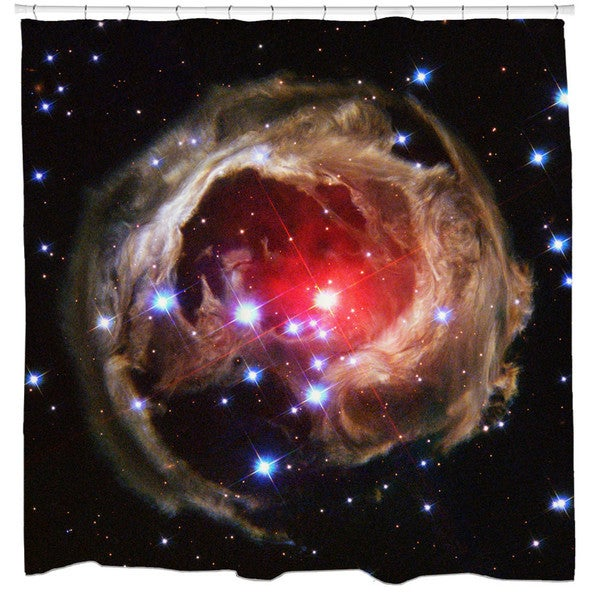 Sharp Shirter Monocerotis Light Echo Star Shower Curtain