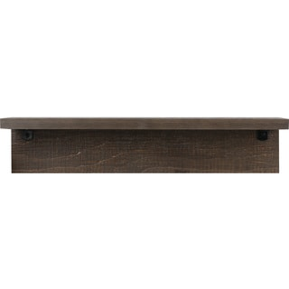 Brown 6-inch x 24-inch Shelf