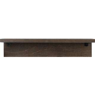 Brown 6-inch x 24-inch Shelf