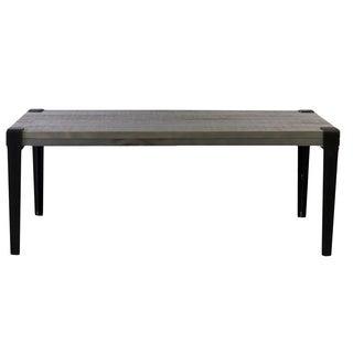 Grey Metal/Wood 20-inch x 42-inch Coffee Table