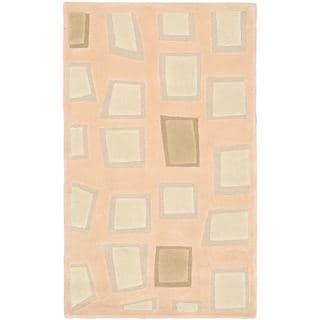 eCarpetGallery Soho Ivory/Beige Cotton and Wool Mosaic Rug (2'11 x 4'11)