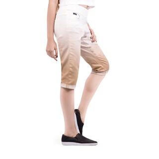 Bluberry Women's Dip-dye Denim Bermuda Shorts