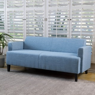 Maeva Three-Seat Fabric Sofa by Christopher Knight Home