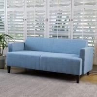 Maeva Three-Seat Fabric Sofa by Christopher Knight Home