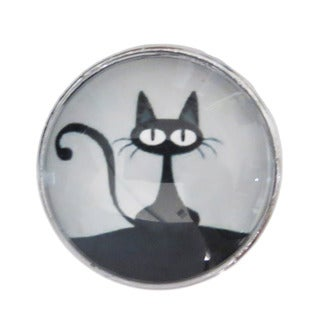 Black Cat Glass Drawer/ Door/ Cabinet Pull Knob (Pack of 6)