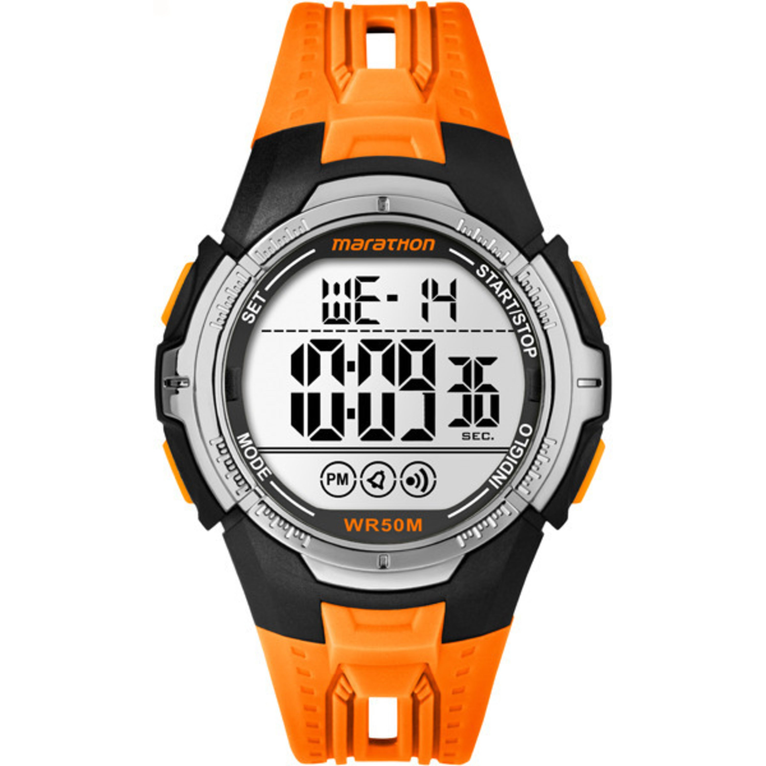 Marathon by Timex TW5M06800M6 Orange/Black Resin/Acrylic/...
