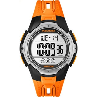 Marathon by Timex TW5M06800M6 Orange/Black Resin/Acrylic/Stainless Steel Digital Full-size Men's Strap Watch