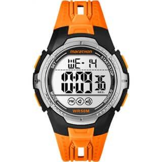 Marathon by Timex TW5M06800M6 Orange/Black Resin/Acrylic/Stainless Steel Digital Full-size Men's Strap Watch (Option: Orange)|https://ak1.ostkcdn.com/images/products/11990995/P18871041.jpg?impolicy=medium