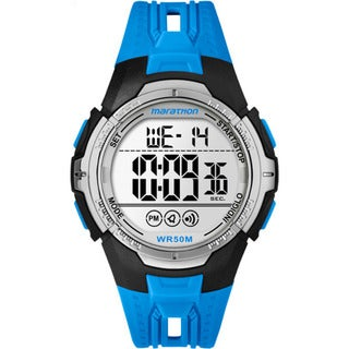 Marathon by Timex Men's TW5M06900M6 Blue/Black Resin/Acrylic/Stainless Steel Digital Full-size Watch