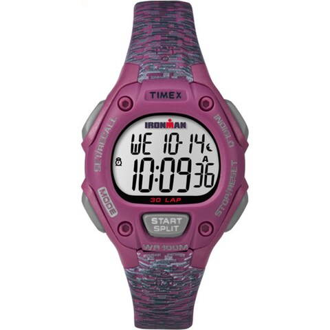 Timex Women's Pink Resin Strap 30 Mid-size Ironman Classic Watch