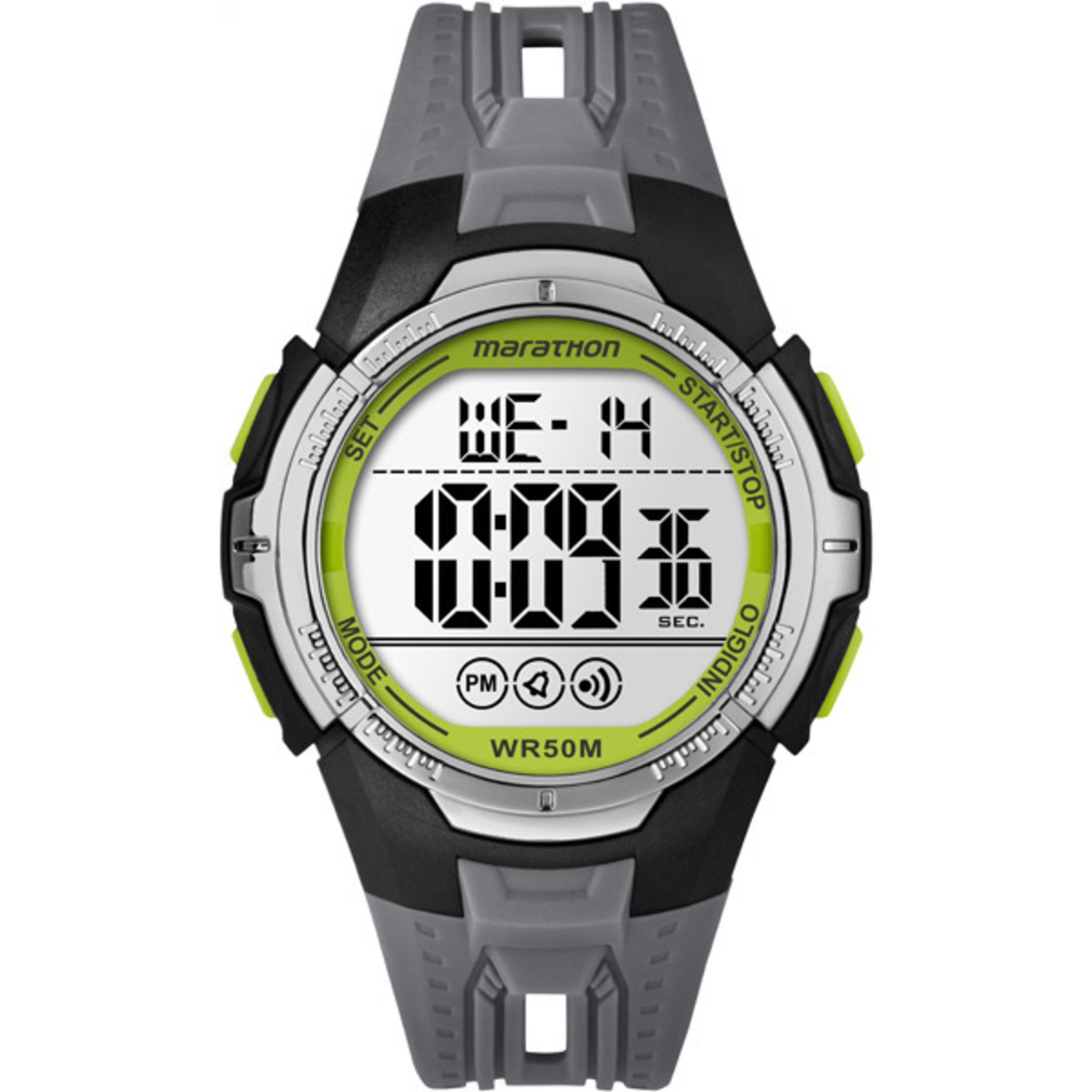 Timex Marathon TW5M06700M6 Black/Grey/Green Resin/Acrylic...