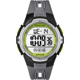 Timex Marathon TW5M06700M6 Black/Grey/Green Resin/Acrylic/Stainless Steel Digital Full-size Men's Strap Watch