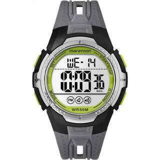 Timex Marathon TW5M06700M6 Black/Grey/Green Resin/Acrylic/Stainless Steel Digital Full-size Men's Strap Watch https://ak1.ostkcdn.com/images/products/11991006/P18871042.jpg?impolicy=medium